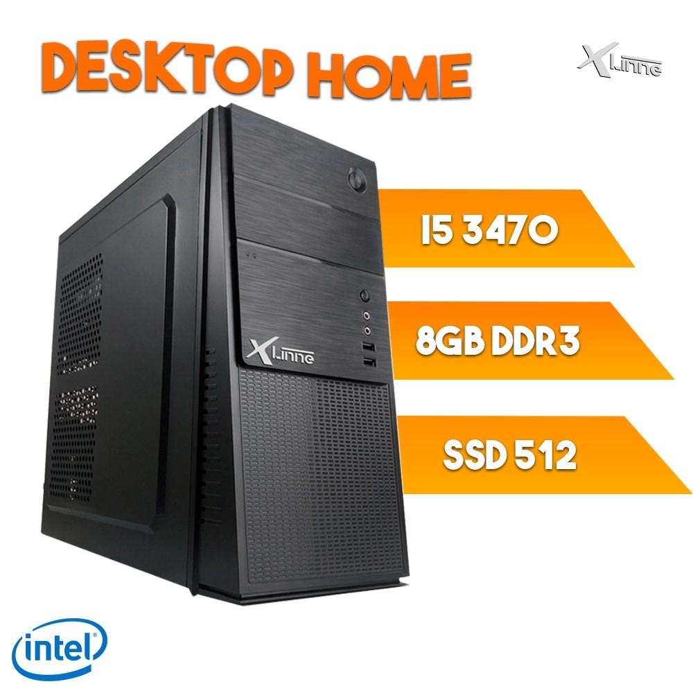 Desktop 1155 Home I5 3470 DDR3 8GB SSD 512GB  X-Linne
