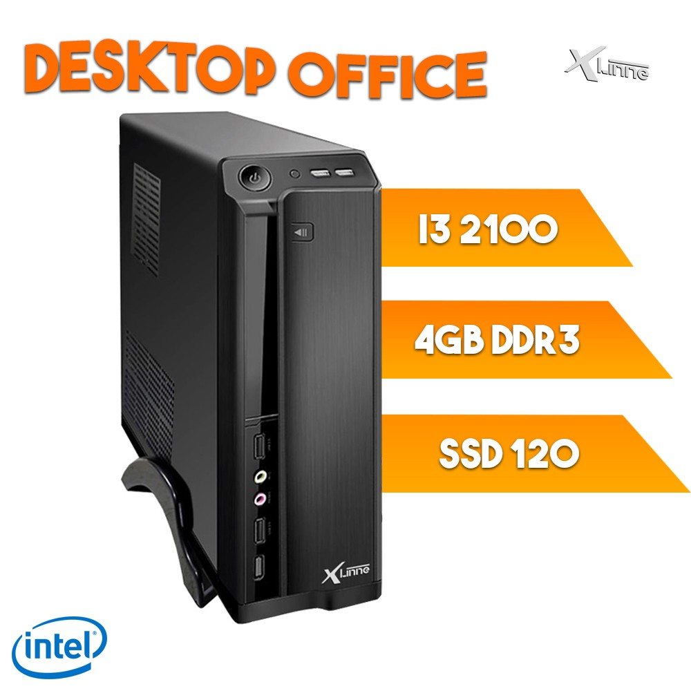 Desktop 1155 Office I3 2100 DDR3 4GB SSD 120Gb X-Linne