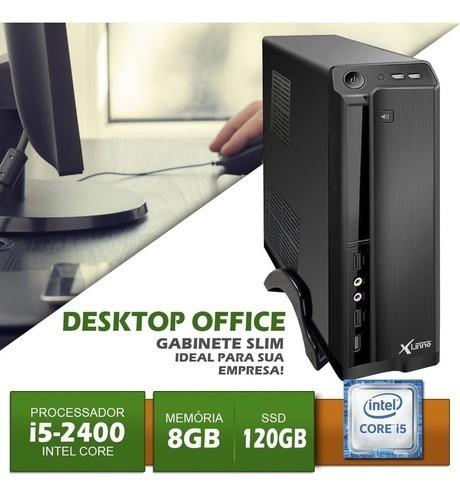 Desktop 1155 Office I5 2400 DDR3 8GB HD SSD 120Gb X-Linne