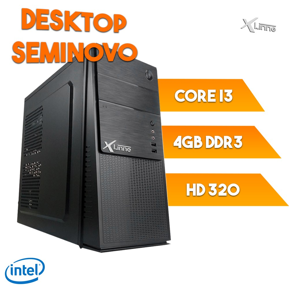 Desktop 1155 Semi-Novo i3 4GB 320GB Revisado