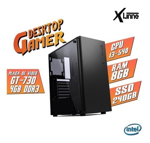 Desktop 1156 Gamer CGT31B i3 540 8GB SSD 240 GT 730 4GB X-Linne