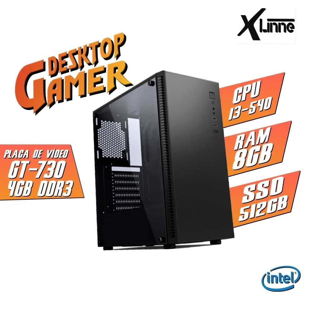 Desktop 1156 Gamer CGT31B i3 540 8GB SSD 512 GT 730 4GB X-Linne