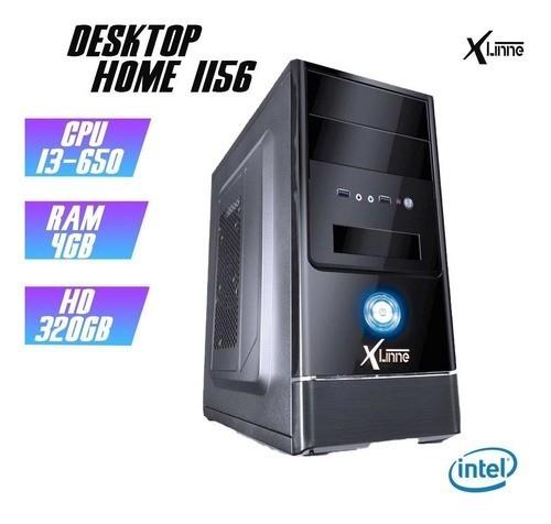 Desktop 1156 Home I3 650 DDR3 4Gb HD 320GB X-Linne