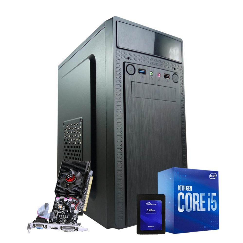 Desktop 1200 Home I5 10400F DDR4 8GB HD SSD 120GB GT210 1GB X-Linne