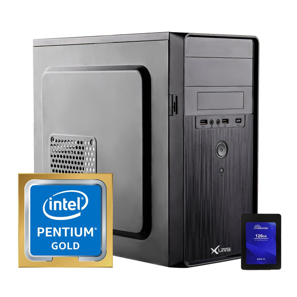 Desktop 1200 Home Pentium Gold G6400 8GB SSD 120GB X-Linne