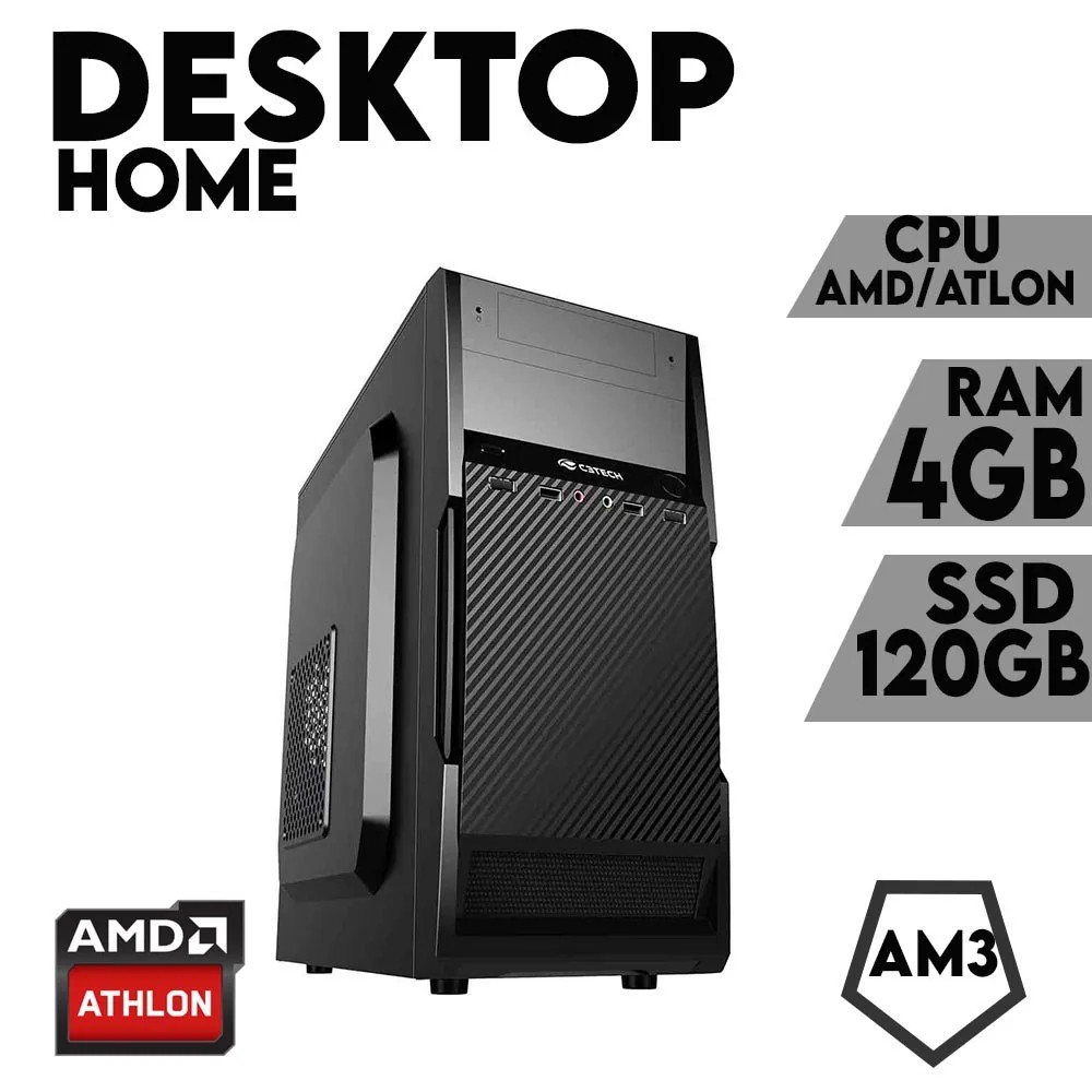 Desktop AM3 Home Atlon DDR3 4GB SSD 120GB X-Linne
