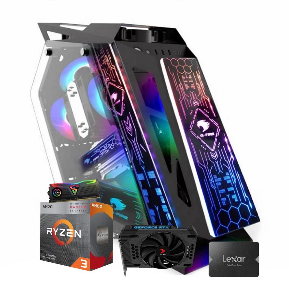 Desktop AM4 Gamer Ryzen 3 3200G 8GB SSD 240 RTX 36012GB GS Lumine CGLKL06G X-Linne