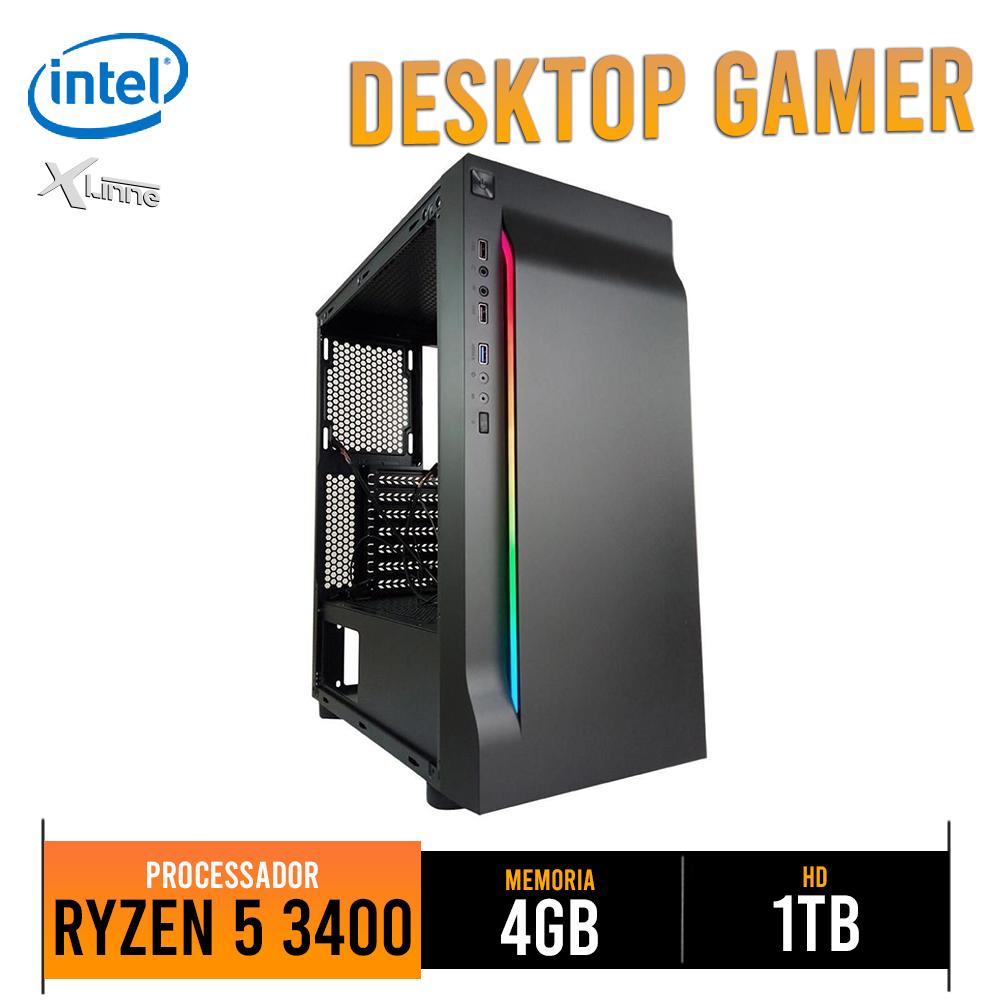 Desktop AM4 Gamer Ryzen 5 3400G 8GB 1TB CG01 X-Linne