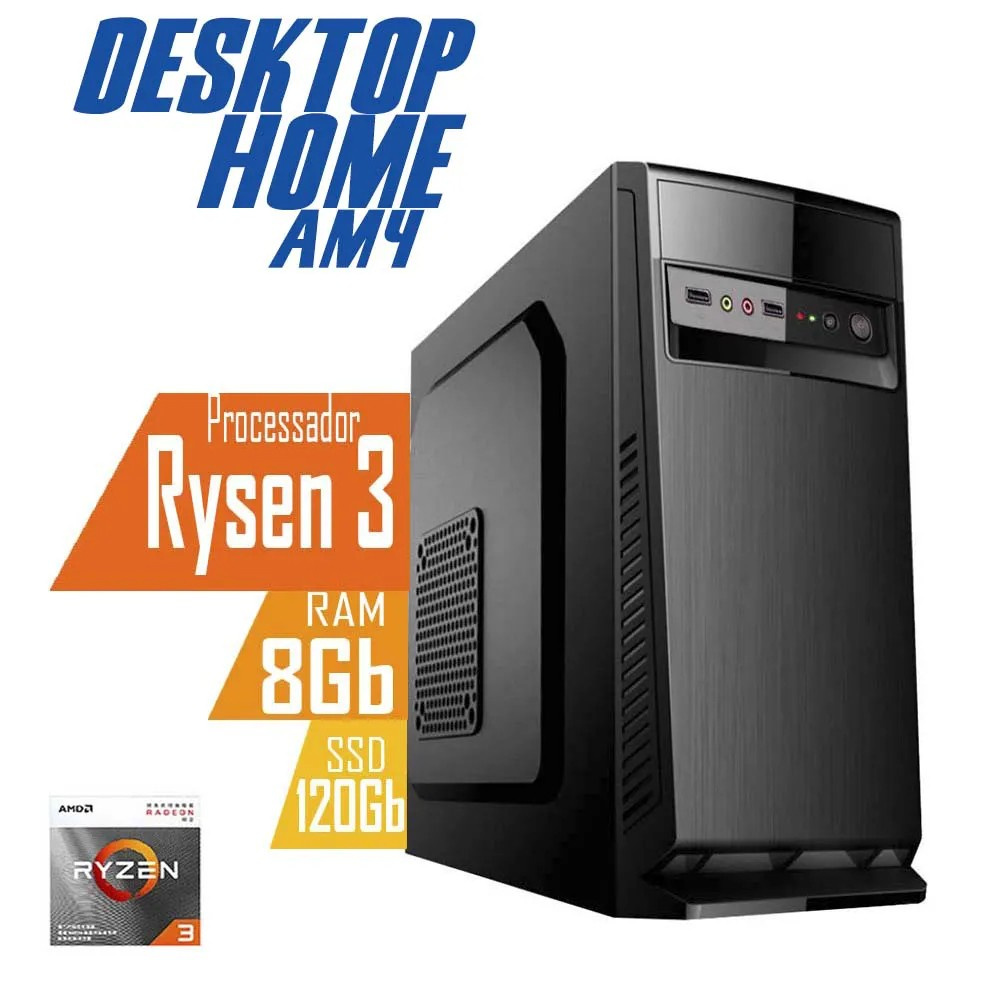 Desktop AM4 Home Ryzen 3 3200G DDR4 8GB SSD 120GB X-Linne