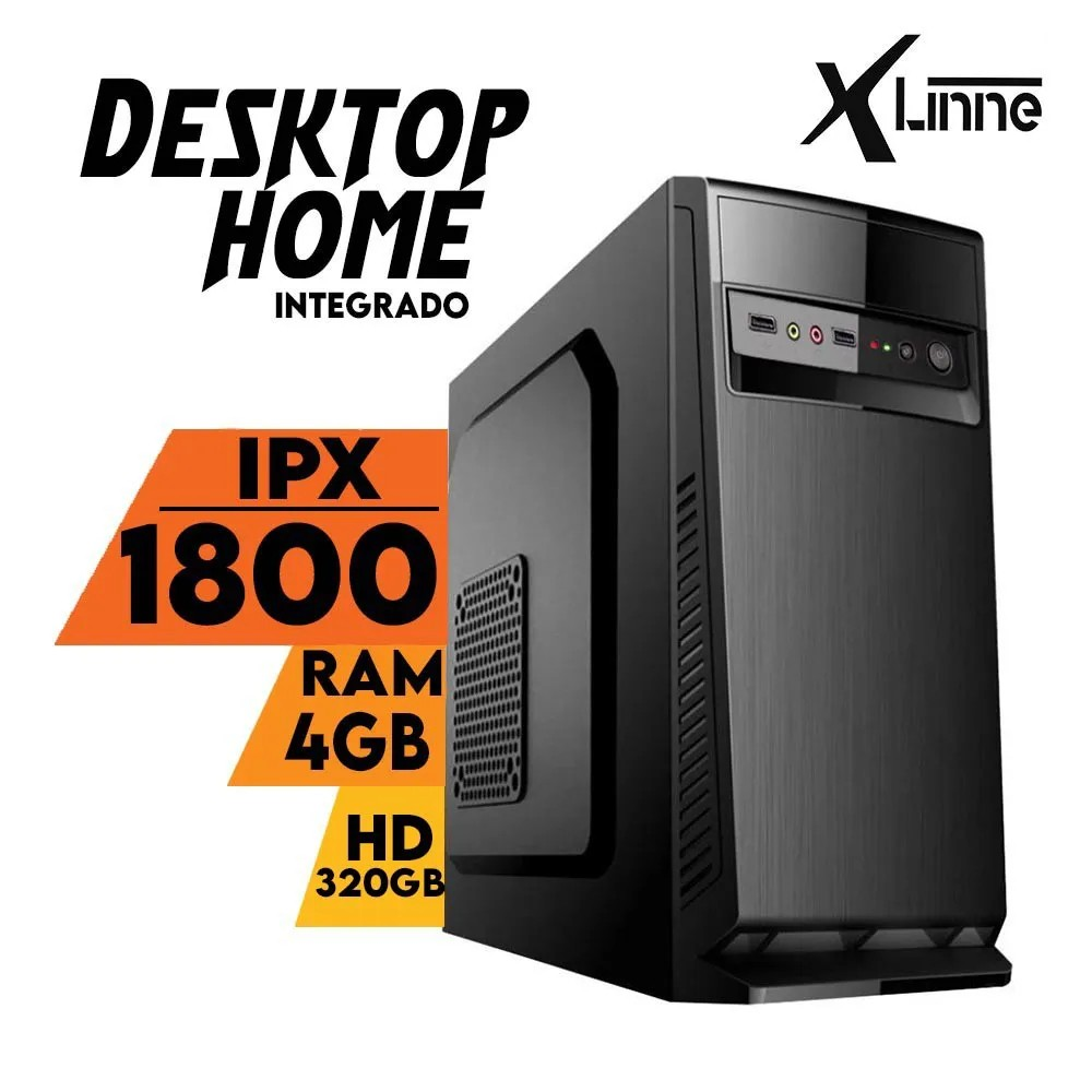 Desktop Integrado Home IPX 1800 DDR3 4gb HD 320GB X-Linne