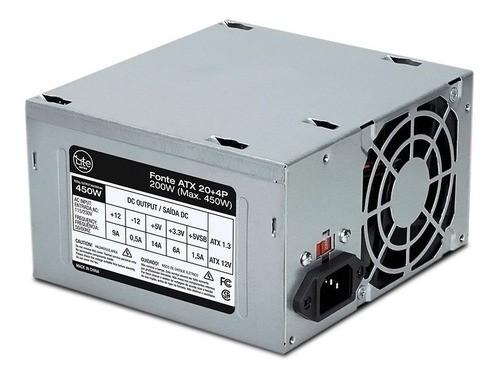 Fonte ATX 200w Real S/ cabo Lite