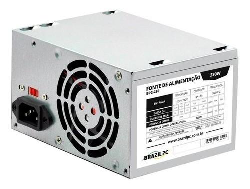 Fonte ATX 230w Real S/ Cabo Brazil PC