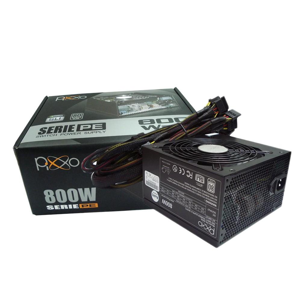 Fonte ATX 800w Real 80 Plus Silver PE800S0PSB Pixxo