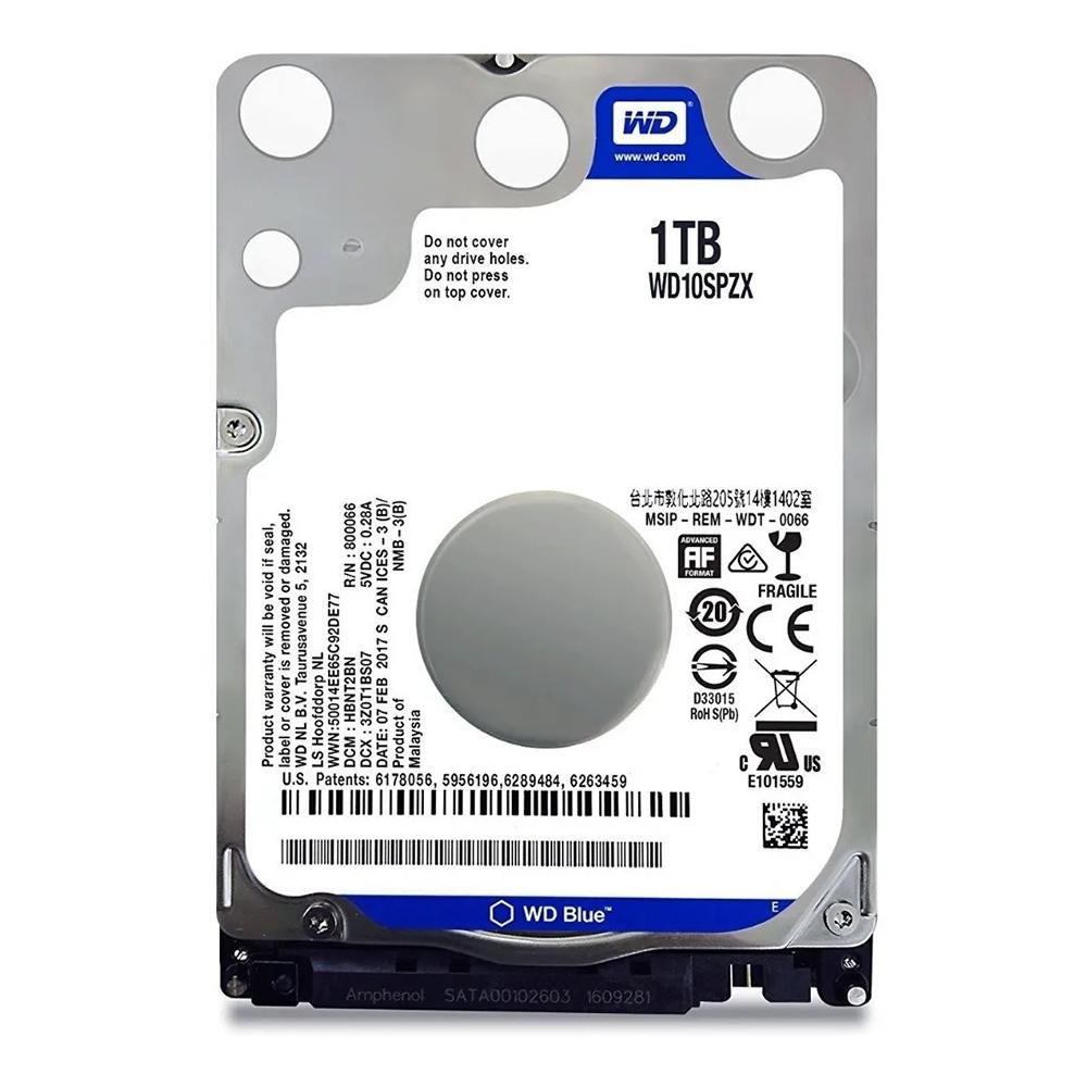 HD Notebook 1 Tera Azul Wester Digital