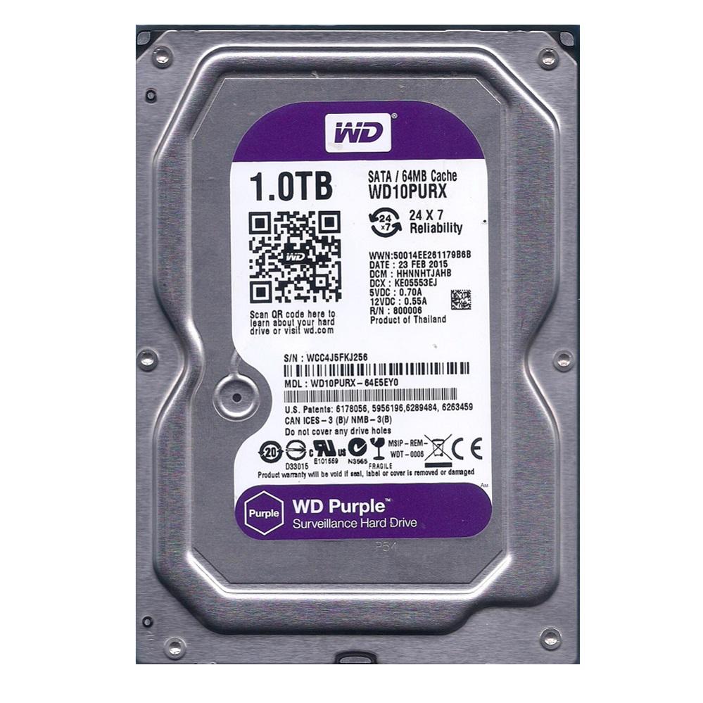 HD P/ SEGURANÇA 1TB Sata WD10PURX Purple Wester Digital