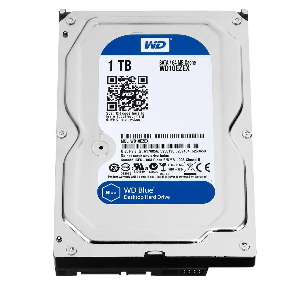 HD PC 1TB 7.2RPM Serial SATA 3 Blue WD10EZEX Wester Digital