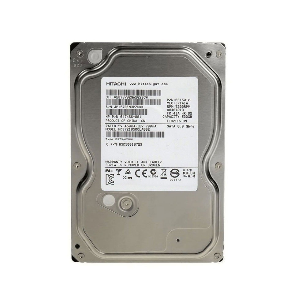 HD PC 500GB SATA3 7200RPM HDS721050CLA662 HITACHI