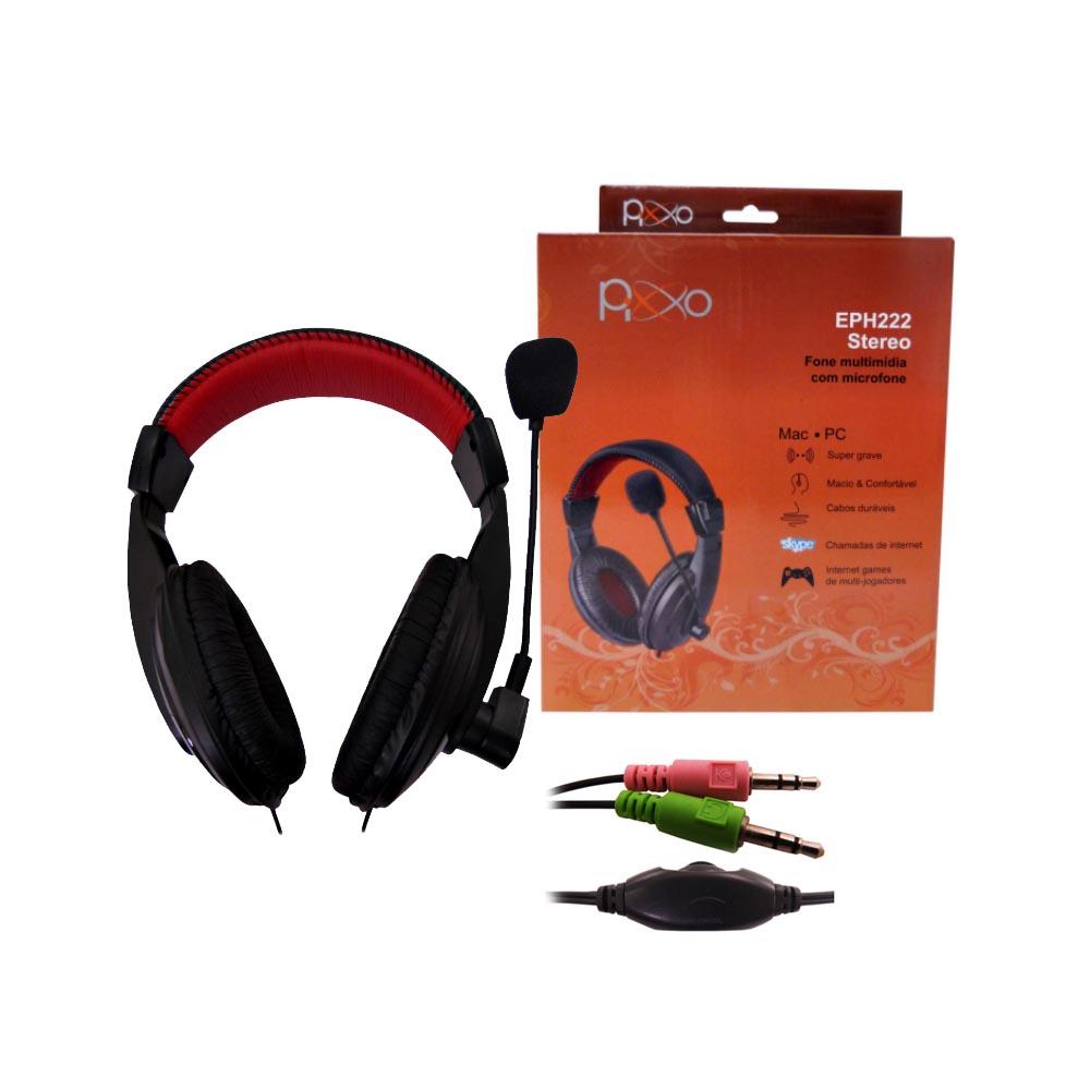 Headset EPH222 Multimidia c/ microfone Pixxo