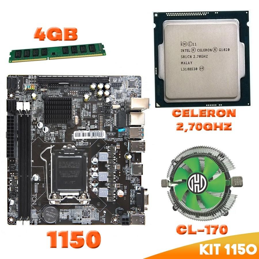 Kit 1150 Placa Mae + Processador Cel 1820 + DDR3 4gb