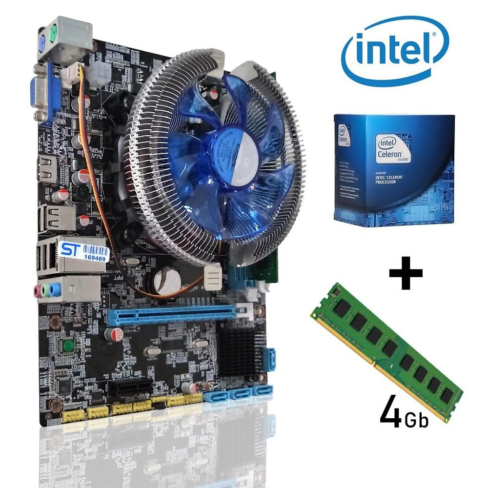 Kit 1155 Placa Mae 1155 + Celeron Dual Core + DDR3 4gb