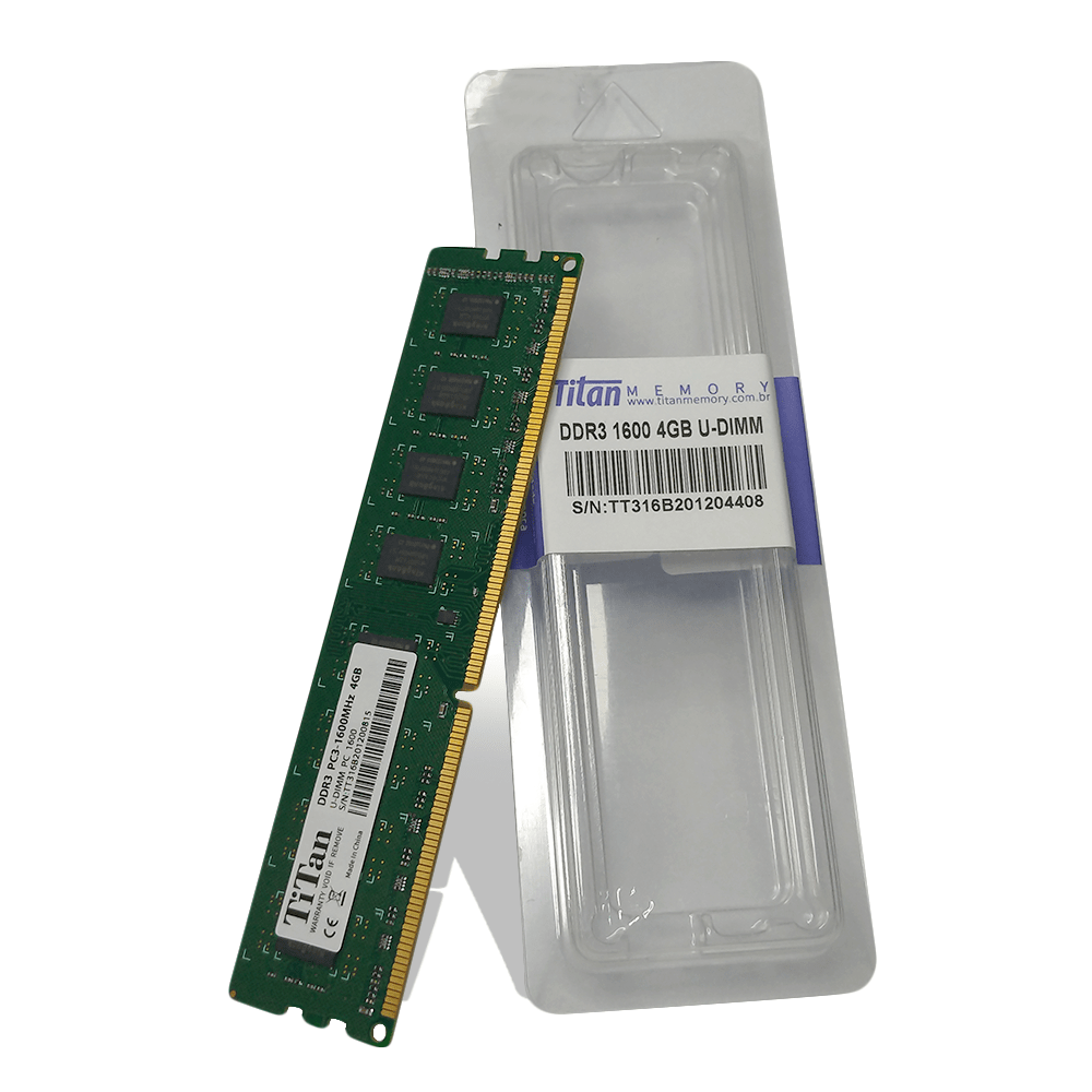 Memória PC DDR3 4GB / 1600 Box Titan