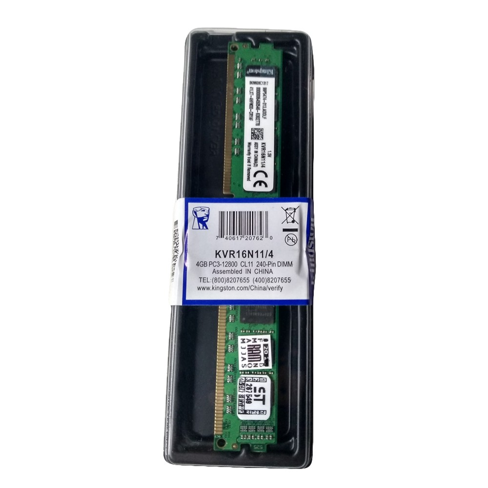 Memoria PC DDR3 4GB / 1600Mhz 12800 BOX Kingston