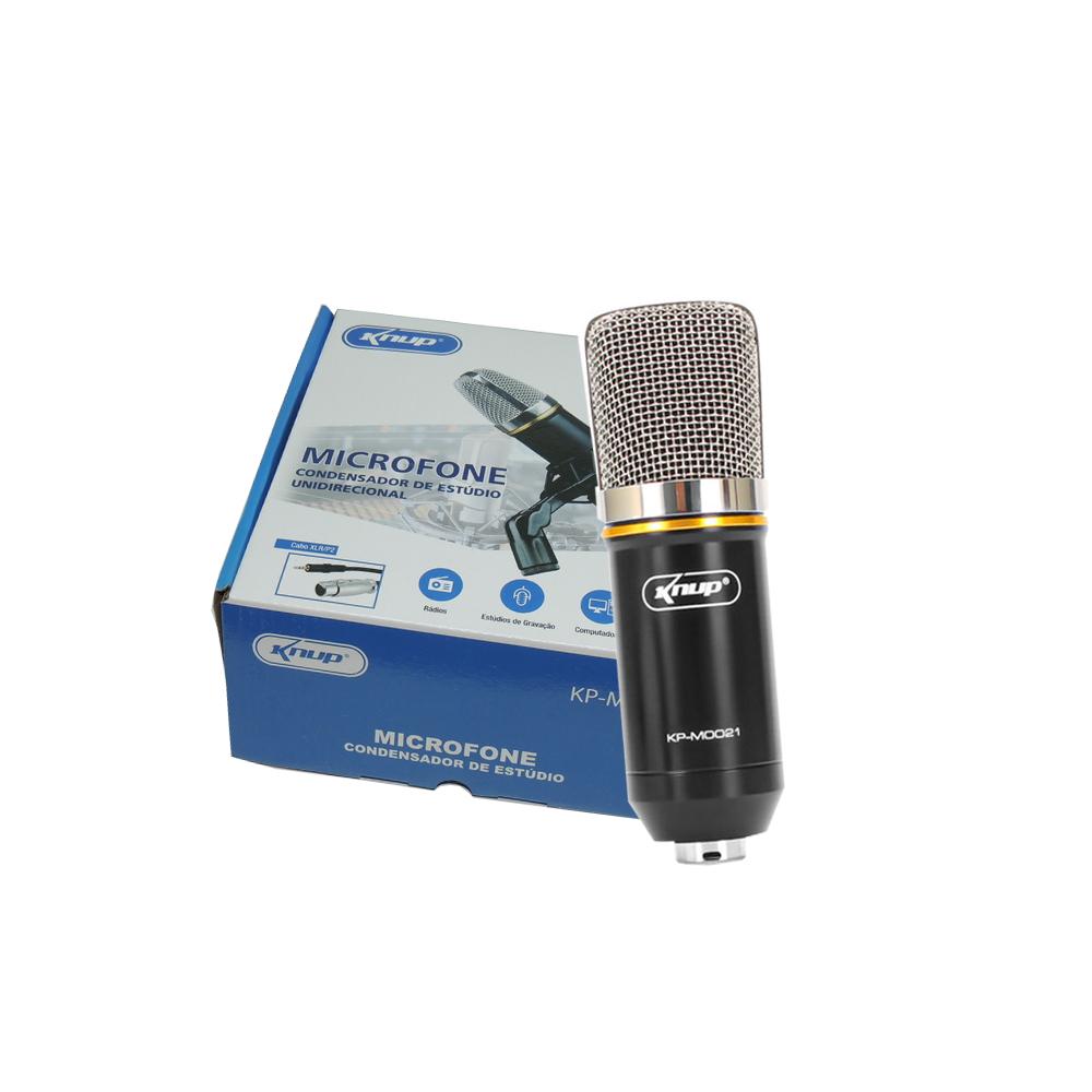Microfone Condensador de Estudio KP-M0021 KNUP