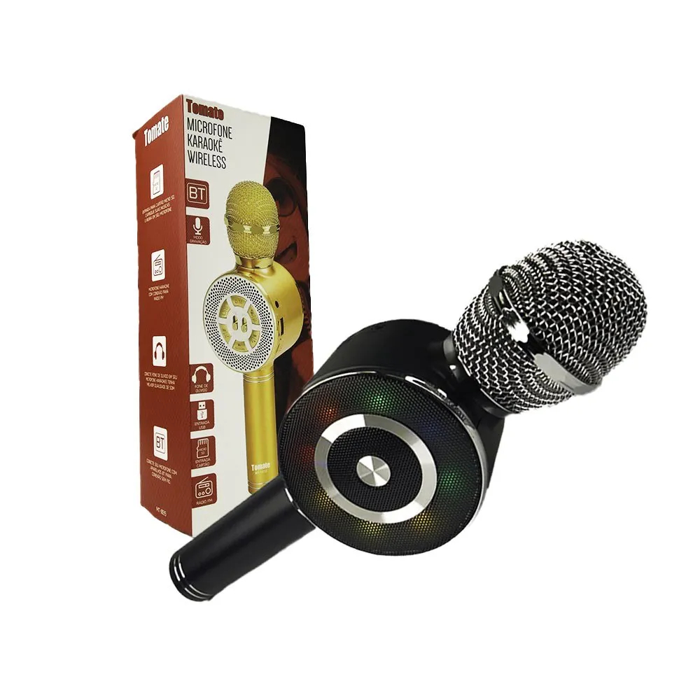 Microfone Karaokê Wireless MT-1035 Tomate