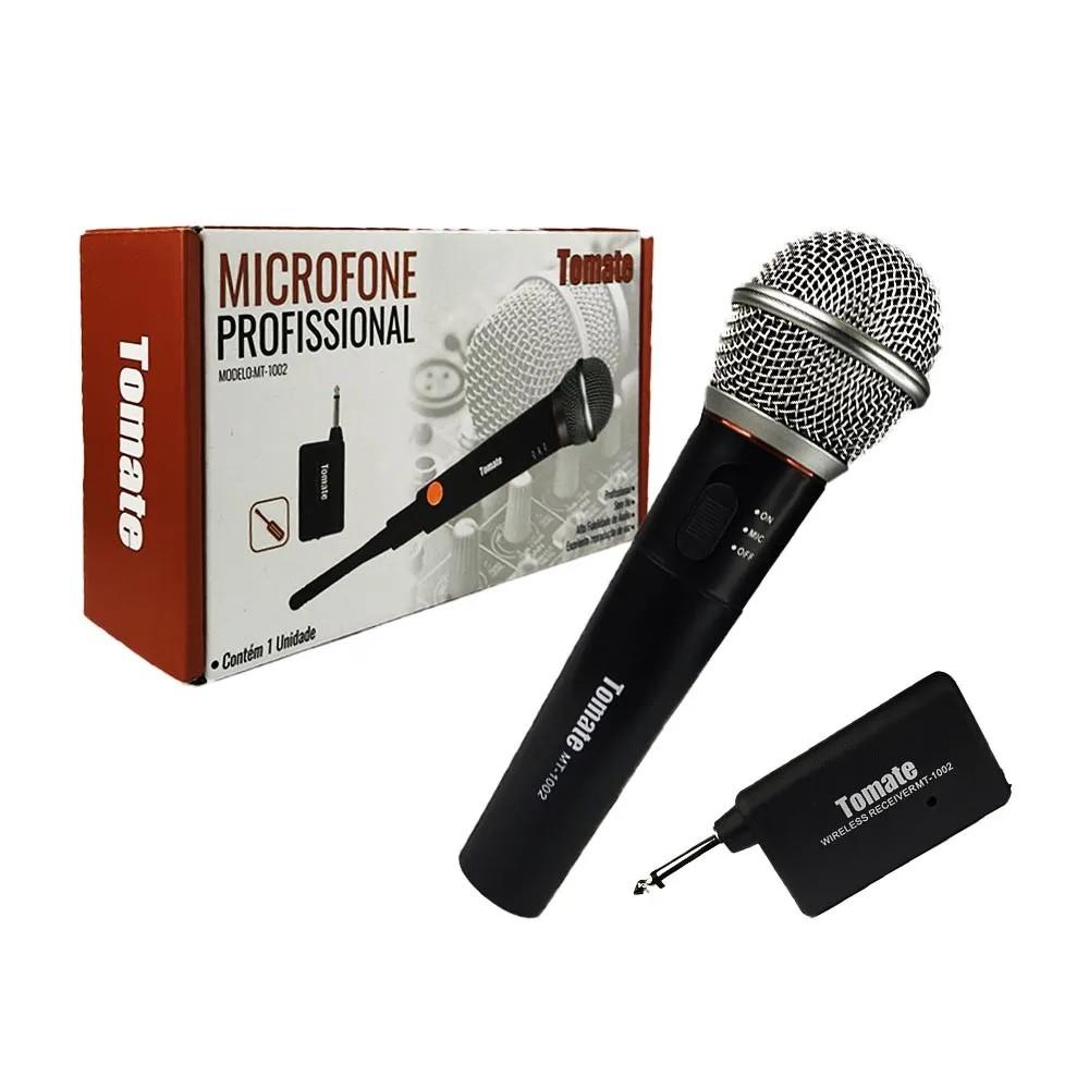 Microfone Profissional s/fio MT-1002 Tomate