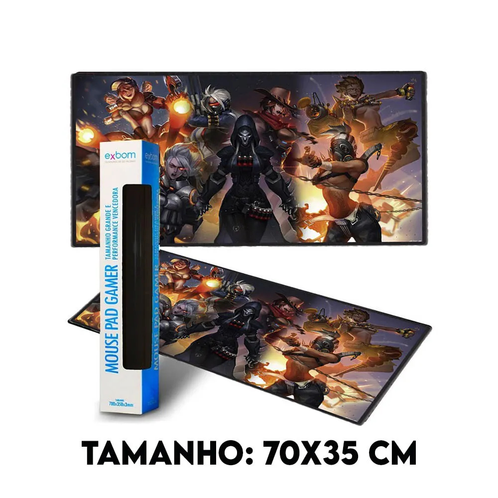 Mouse Pad Gamer Extra Grande 700x350x3mm MP-7035C19 Fighting Girls