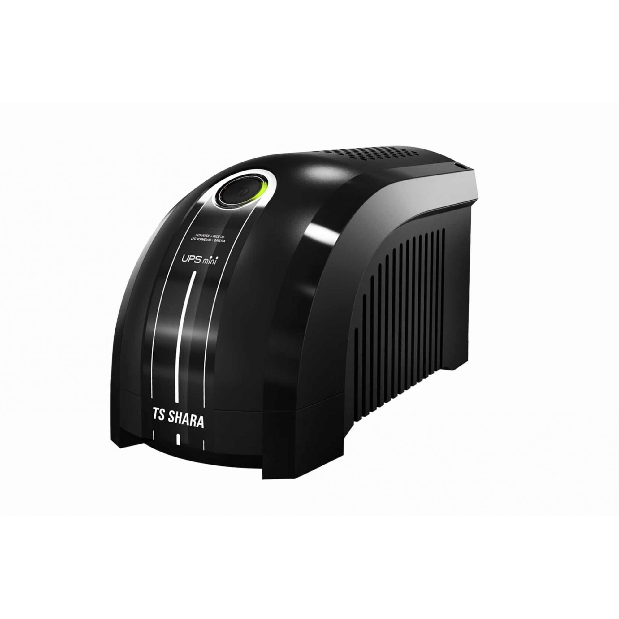 Nobreak  600VA UPS Mini Mono Entrada 115 Saida 115v Preto Ts Shara