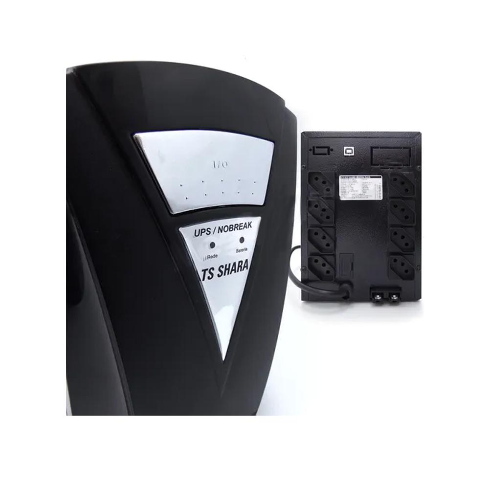 Nobreak UPS Senoidal 1800 2BS/2BA UNIVERSAL Biv Auto 8T Saida 115V e 220V USB Intelig. 1 Exp. 7A/45A Ts Shara