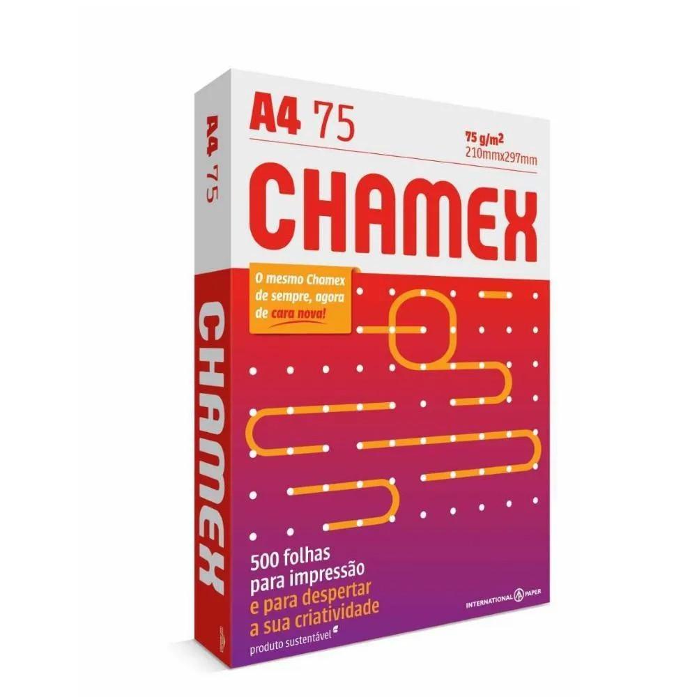 Papel Chamex A4 75g/m2 210 x 297cm Office Branco 500Fls