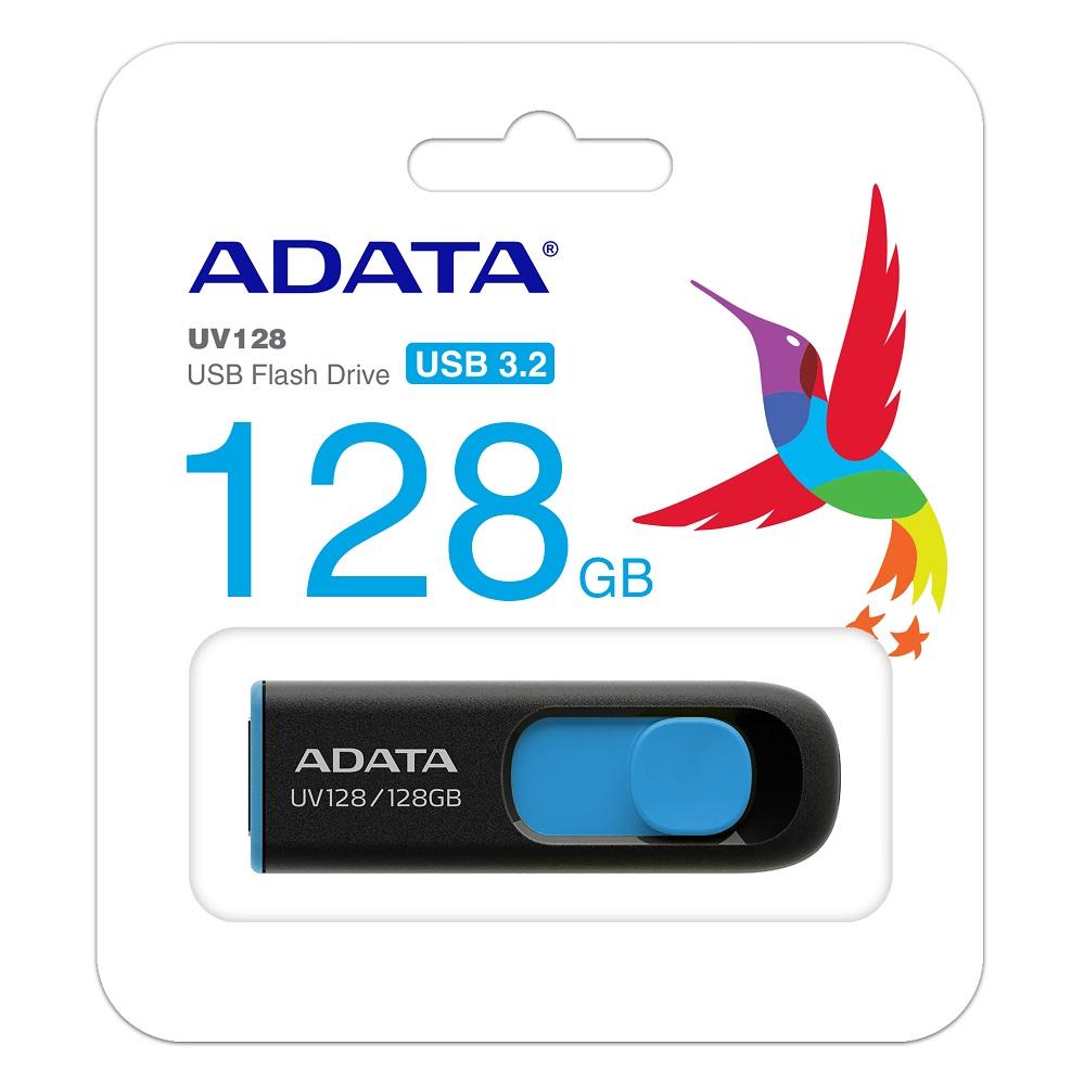 Pen Drive 128GB UV128 Azul/ Preto A-Data