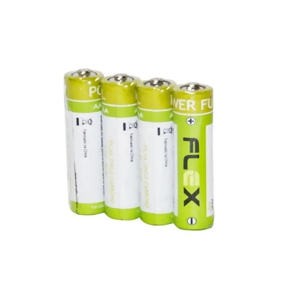 Pilha AA Zinco c/ 4unid FX-2AZ Flex