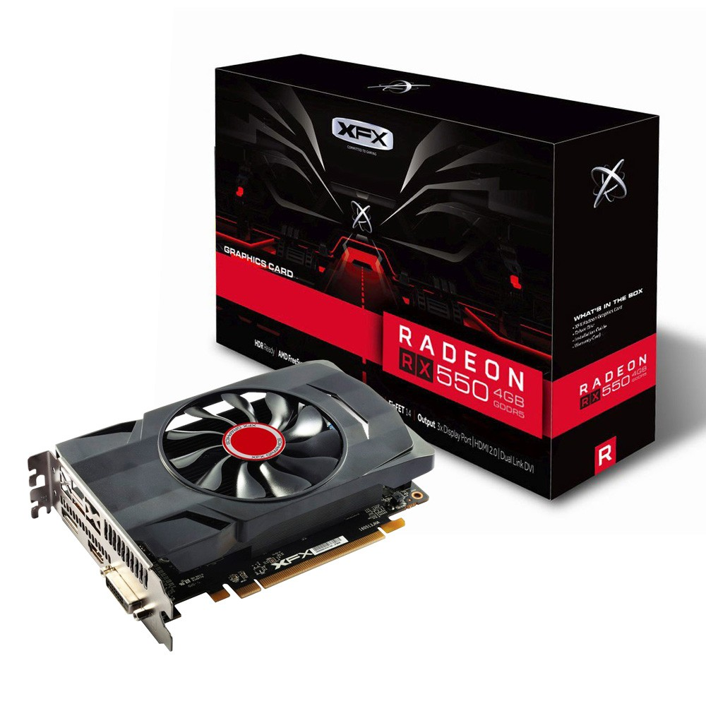 Placa de Video 4GB RX 550 Radeon DDR5 1203MHZ CORE DP XFX