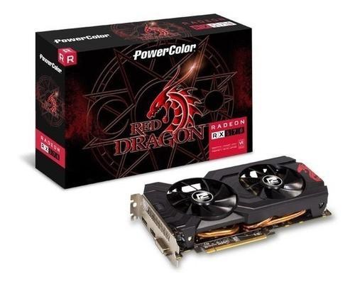 Placa de Video GPU AMD RX 570 4GB RED DRAGON POWER COLOR AXRX 570 4GBD5-3DHDV3/OC