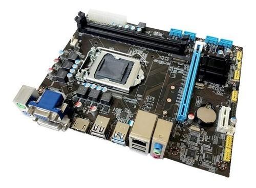 Placa Mae LGA 1151 DDR3 H110 16GB Rede 10/100/1000 Bluecase