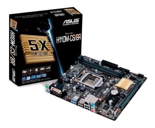 Placa Mae LGA 1151 H110M-CS/BR DDR4/VGA/mATX Asus