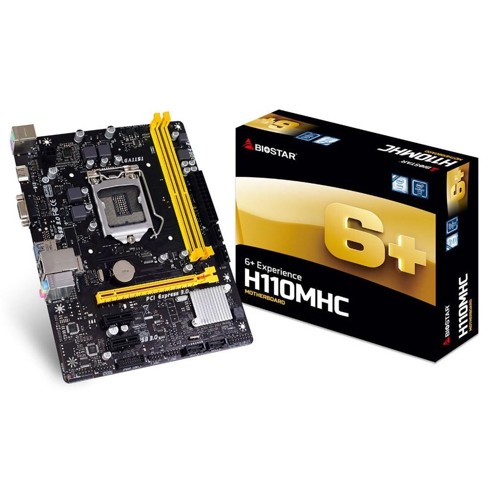 Placa Mae LGA 1151 H110MHC DDR4 HDMI Biostar Box