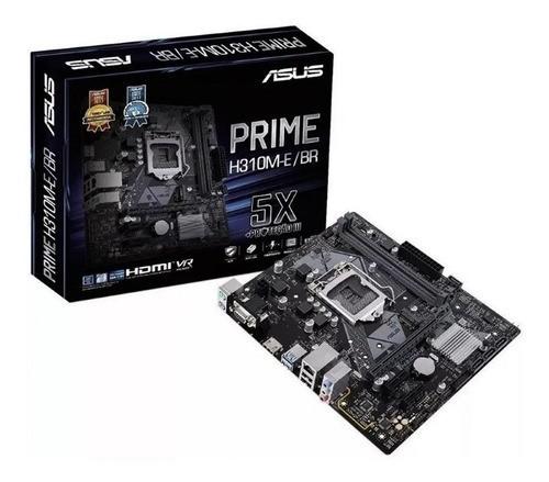 Placa Mae LGA 1151 Prime H310M-E/BR 1151/DDR4/HDMI/VGA/M.2/mATX Asus