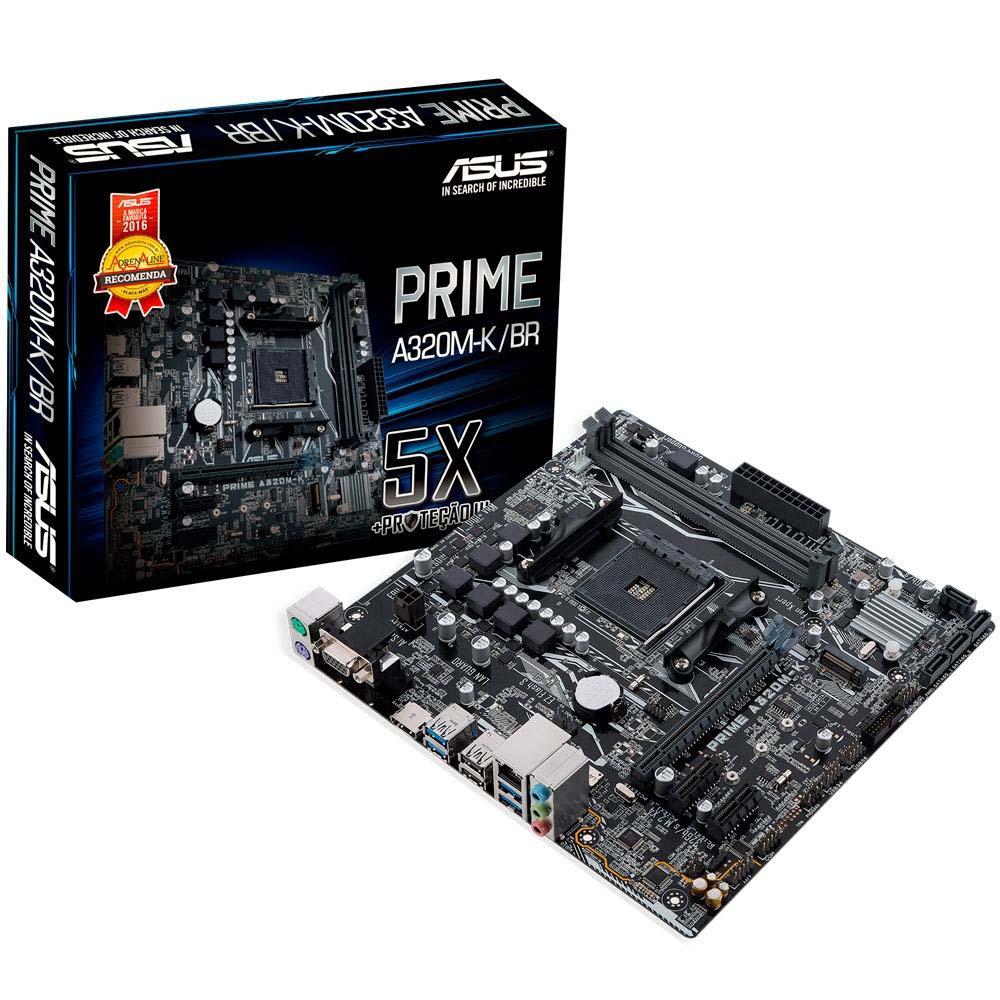 Placa Mae LGA AM4 Prime A320M-K/BR DDR4/HDMI/VGA/M.2/micro Asus