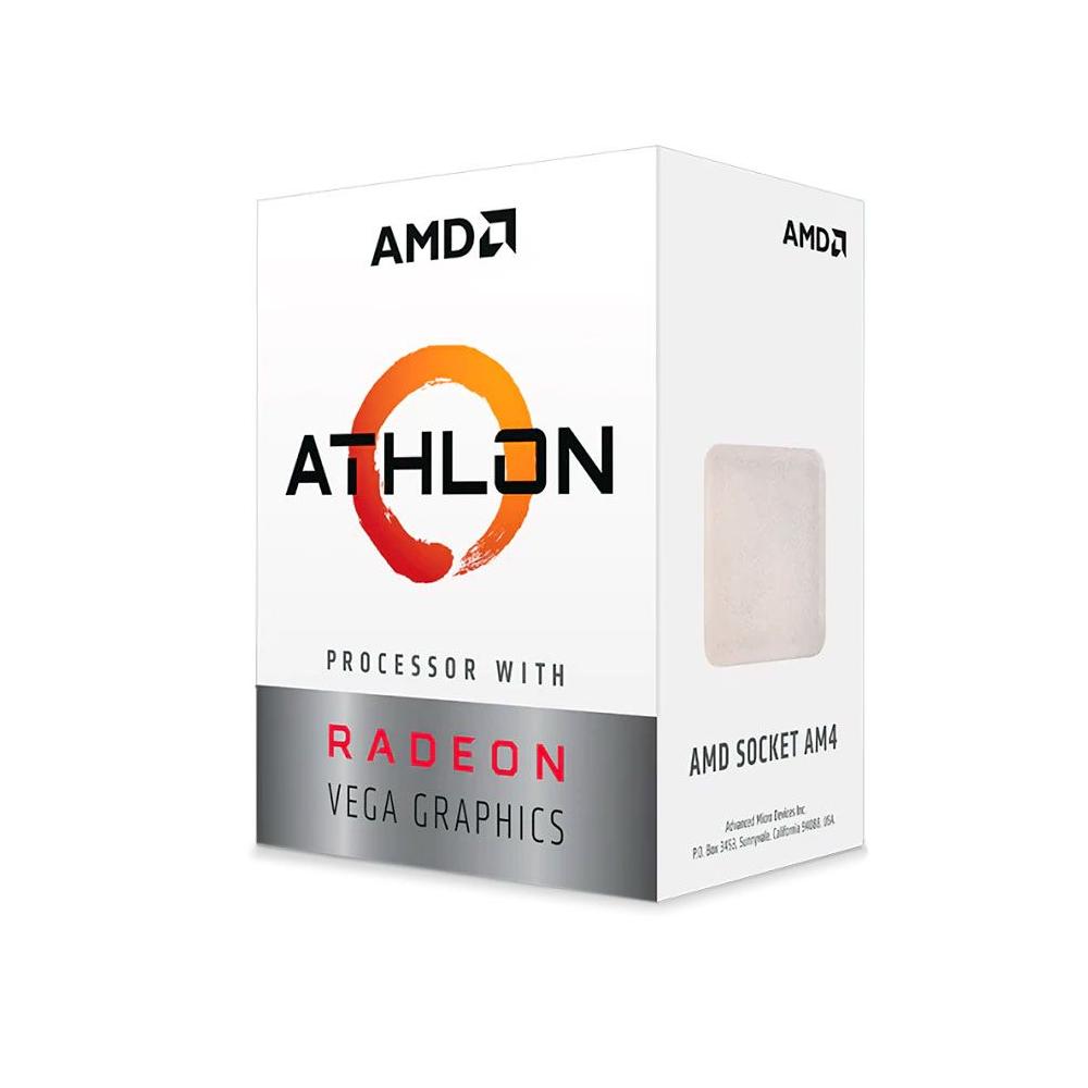Processador AMD LGA AM4 Athlon 3000G 3.5Ghz Radeon Vega 3 35W
