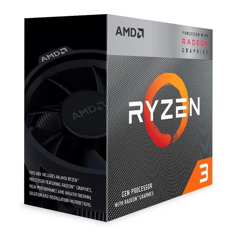 Processador AMD LGA AM4 Ryzen 3 3200G 3.6GHz 6Mb Radeon RX Vega8 BOX