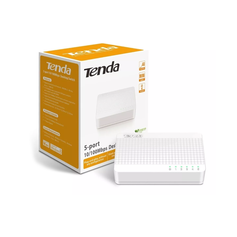 Switch 5 Portas 10/100Mbps S105 Tenda