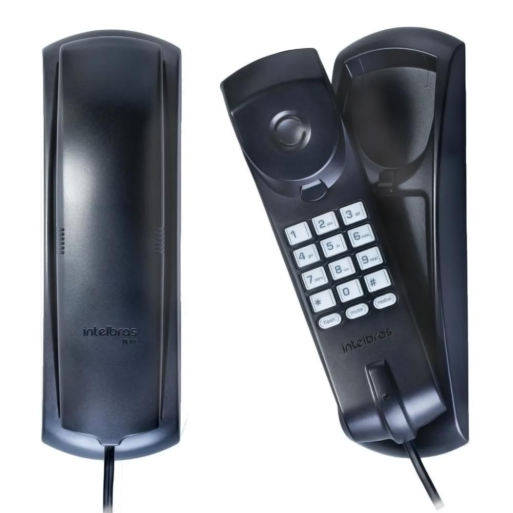 TELEFONE COM FIO TC20 GONDOLA PT INTELBRAS
