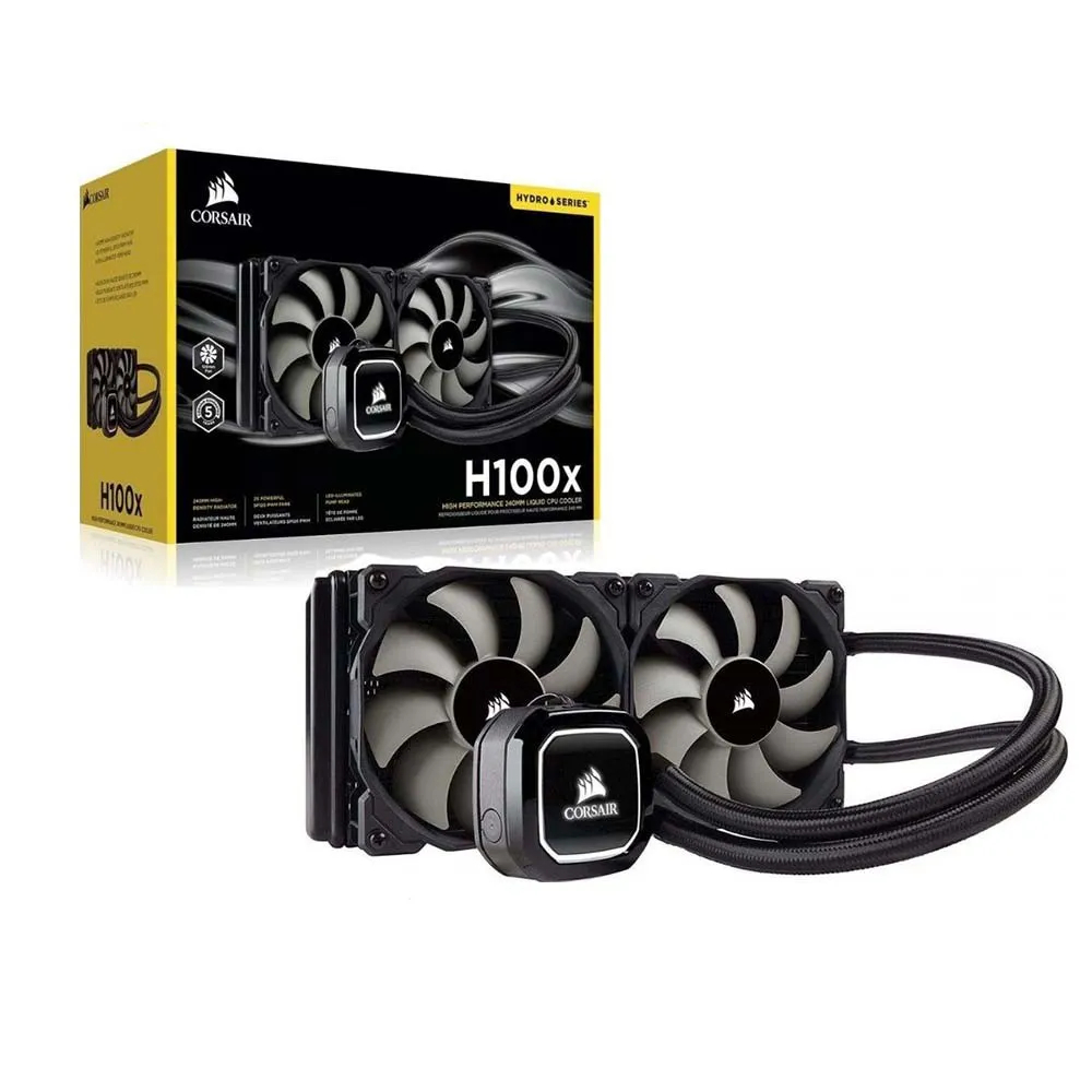 Water Cooler Corsair H100X (2018) PN # CW-9060040-WW