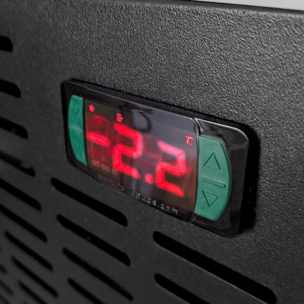 Chopeira Elétrica Bravo!Black X COMPLETA 2 Torneiras C/ Visor LED, 50 Litros / Hora + Kit de Extração Tipo S Duas Vias