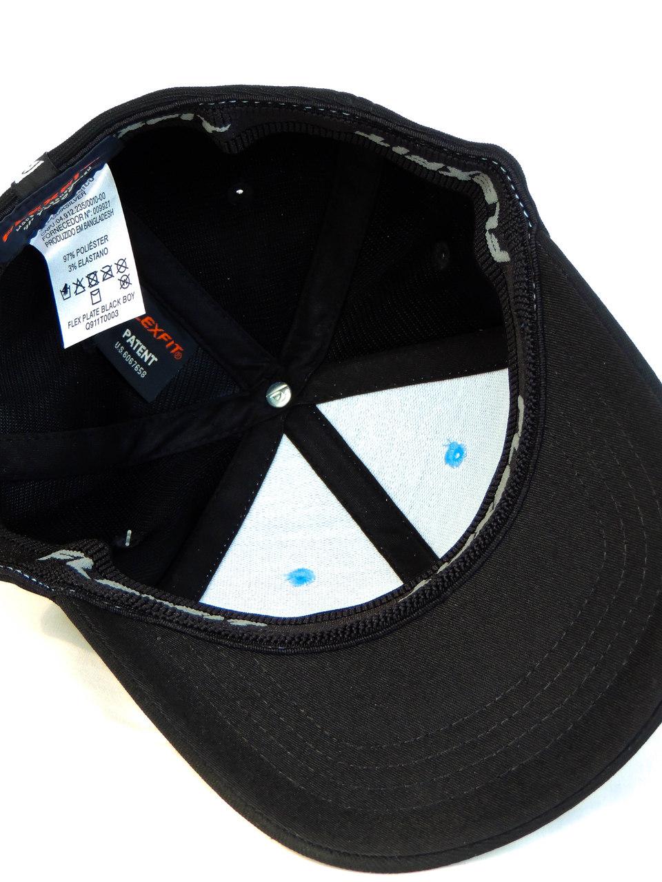 Boné Quiksilver Juvenil Flexfit Plate Azul e Preto