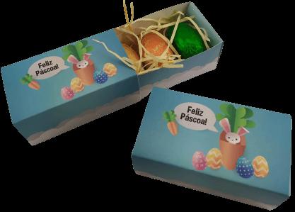 10 Caixas Feliz Páscoa Ovinhos Gourmet Lembrancinha Amigos